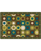 Carpets for Kids Calming Circles with Alphabet Kids Rug 1772 Rug Size: Oval 6' x 9'