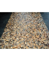 Modern Rugs Patchwork Granite Brown Area Rug patchw5-96 Rug Size: Rectangle 6' x 9'