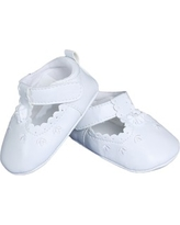 Infant Girl's Little Things Mean A Lot Mary Jane Crib Shoe, Size 2 - White