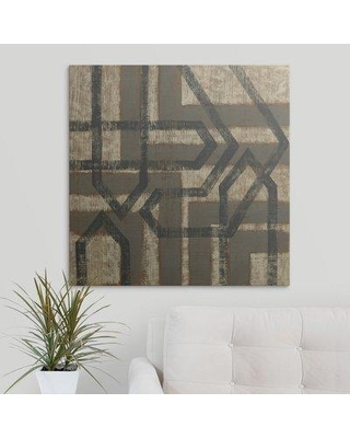 "Great Big Canvas 'Directional II' Chariklia Zarris Graphic Art Print 2275713_1 Size: 30"" H x 30"" W x 1.5"" D Format: Canvas"
