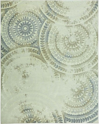 Home Decorators Collection Spiral Medallion Ivory 8 ft. x 10 ft. Area Rug