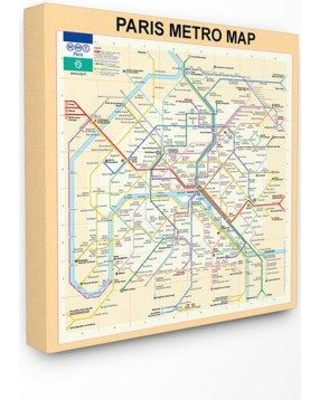Subway Map Paper Products.Ebern Designs Ebern Designs Travel Paris Metro Subway Map Graphic Art Print W000390362 Format Wrapped Canvas Size 24 H X 24 W X 1 5 D From