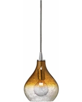 """Jamie Young Gradient Amber Curved 7"""" Wide Mini Pendant"""