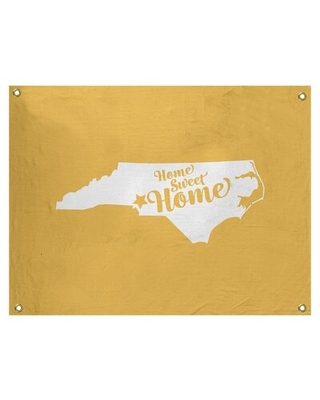 """Home Sweet Charlotte Wall Tapestry East Urban Home Size: 26"""" H x 36"""" W, Color: Yellow"""