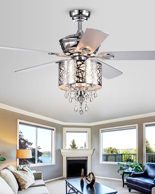 Home Accessories Chrome Tiered Crystal Chandelier Ceiling Fan From Horchow Neiman Marcus Martha Stewart