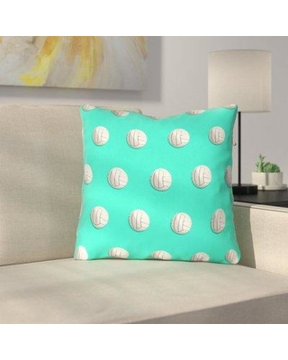 """East Urban Home Volleyball Throw Pillow with Zipper URBR7232 Size: 20"""" x 20"""" Color: Teal"""