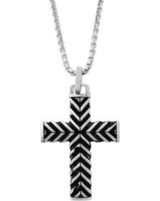 Effy Silver Sterling Silver Cross Pendant Necklace