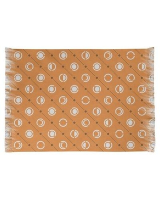 East Urban Home Moon Phases Orange Area Rug W001703186 Non-Skid Pad Included: Yes