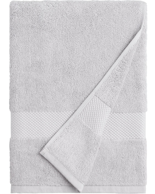 Pebble Gray Cotton Bath Towel by World Market