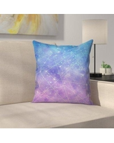 "East Urban Home Map of the Stars Throw Pillow EUHG3307 Size: 18"" x 18"""