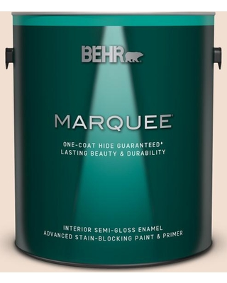 BEHR MARQUEE 1 gal. #W-F-110 Chamois Cloth Semi-Gloss Enamel Interior Paint and Primer in One