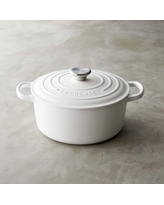 Le Creuset Signature Cast-Iron Round Dutch Oven, 3 1/2-Qt., Matte White