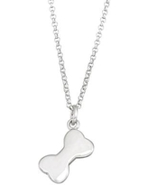 Kids' Junior Jewels Sterling Silver Dog Paw Pendant Necklace, Girl's, White