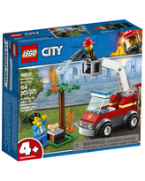 LEGO City Fire - Barbecue Burn Out - Building & Construction for Ages 4 to 8 - Fat Brain Toys
