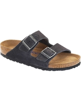 Birkenstock Arizona Soft Footbed Sandal - 46 - Velvet Grey Suede