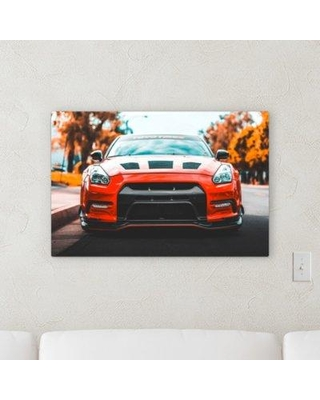 """Ebern Designs 'Focus on Red (118)' Photographic Print on Canvas BF106291 Size: 16"""" H x 48"""" W x 2"""" D"""