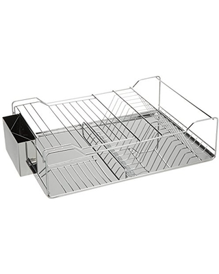 Just Manufacturing JSDD-1851275 Counter Top Stainless Steel Dish Rack with Tray