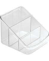 InterDesign Linus Spice Packet Organizer Bin for Kitchen Pantry, Cabinet, Countertops - Clear