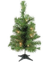 "Northlight 18"" Green Fir Artificial Christmas Tree with 20 Clear Lights with Stand 32150117"
