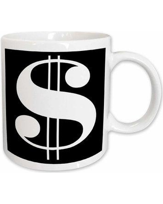 East Urban Home Dollar Sign Against a Background Coffee Mug W000651694 Color: White