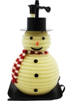 Candle by the Hour 100-Hour Snowman Candle Refill, Eco-friendly Natural Beeswax with Cotton Wick