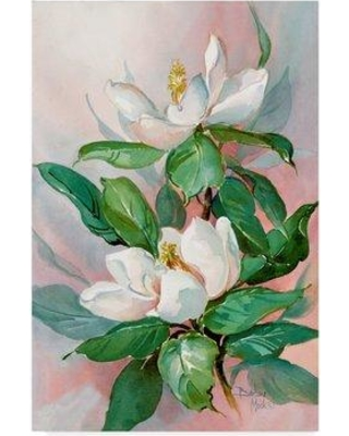 """Charlton Home 'Classic Magnolia' Acrylic Painting Print on Wrapped Canvas CHRH7986 Size: 19"""" H x 12"""" W x 2"""" D"""