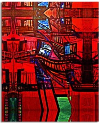 Ebern Designs 'Abstract Escape' Photographic Print on Wrapped Canvas EBRD1251