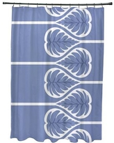 Bay Isle Home Sigsbee Fern 1 Floral Print Shower Curtain BAYI2132 Color: Blue