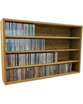 "Wood Shed Multimedia Storage Rack 403- Size: 24.75"" H x 26.88"" W x 6.75"" D, Color: Clear"