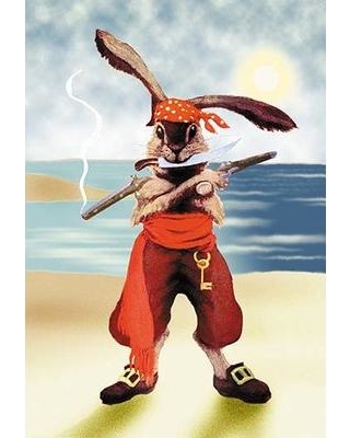Buyenlarge Buyenlarge 'Rabbit Pirate' Painting Print 0-587-15570-1 from  Wayfair | BHG com Shop