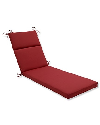 """Pillow Perfect 355580 Outdoor/Indoor Pompeii Chaise Lounge Cushion, 72.5"""" x 21"""", Red"""