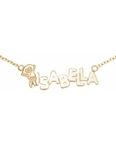 Personalized Dora Girls Name Necklace, One Size , Yellow