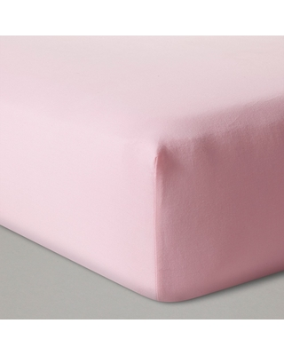 Fitted Crib Sheet Solid - Cloud Island Pink, Size: standard crib