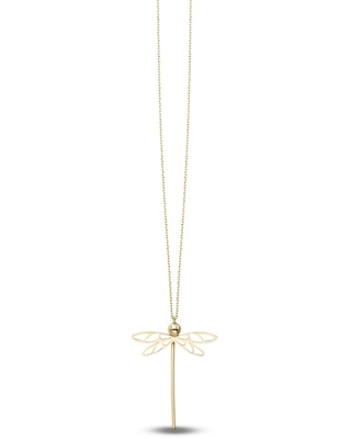 Jared DragonFly Necklace 14K Yellow Gold