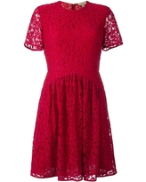 Burberry Ladies Parade Red Lace Fit And Flare Dress, Brand Size 10 (US Size 8)