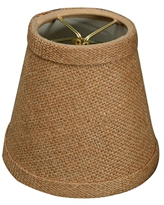 Royal Designs CS-989-5BL Burlap Hardback Empire Chandelier Lamp Shade, Burlap