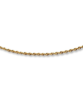 """Jared The Galleria Of Jewelry Glitter Rope Chain Necklace 14K Yellow Gold 20"""" Length"""