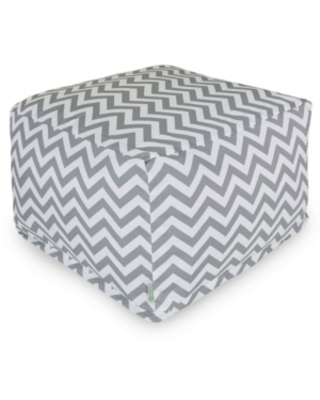 New Savings On Majestic Home Goods Chevron Ottoman Square Pouf With Removable Cover 27 X 17