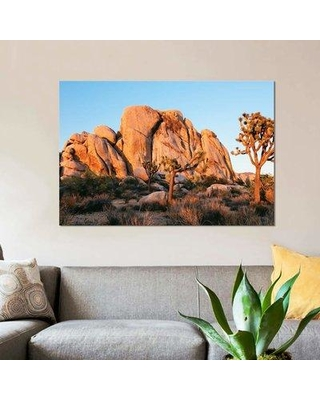 """East Urban Home 'Sunset At Joshua Tree National Park California' By Matteo Colombo Graphic Art Print on Wrapped Canvas ETRC6746 Size: 18"""" H x 26"""" W x 0.75"""" D"""