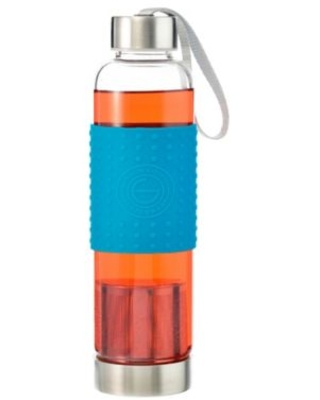 Grosche 18.6 oz. Glass Water Bottle with Infuser