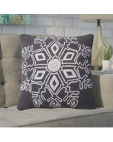 Wrought Studio Annunziata Winter Snowflake Throw Pillow VRKG8125