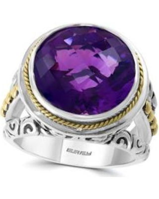 Effy Silver/Yellow Gold 7.9 ct. t.w. Amethyst Ring in 925 Sterling Silver and 18k Yellow Gold