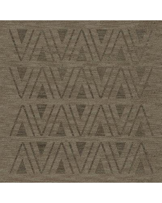 Latitude Run Garney Machine Woven Wool Gray Area Rug W000960193 Rug Size: Square 8'