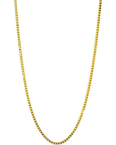 14K Yellow Gold Single Strand Necklace