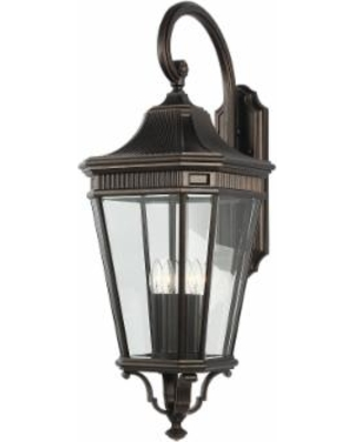 Generation Lighting Feiss Cotswold Lane 4 Light Outdoor Wall Light - OL5405GBZ