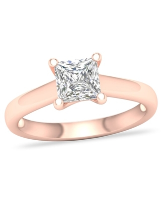 Jared Diamond Solitaire Ring 1-1/4 ct tw Princess-cut 14K Rose Gold