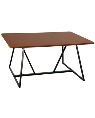 """Statler Sitting Height Teaming Drafting Table Gracie Oaks Color: Cherry/Black, Size: 42"""" H x 60"""" W x 48"""" D"""