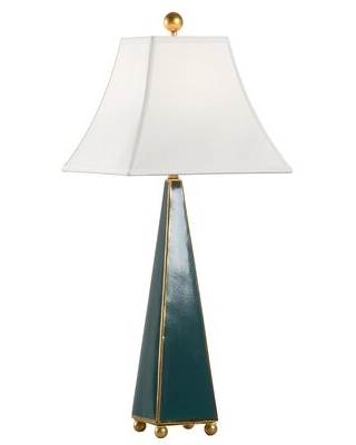 "Pyramid 31"" Table Lamp Chelsea House Base Color: Green"