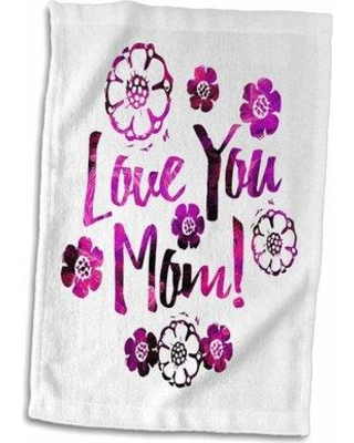 East Urban Home Block Pretty in Love Your Mom Design Hand Towel W001288398