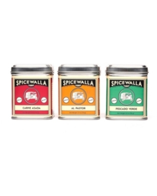 Spicewalla Brand Taco Spices Collection Big Tin 3 Pack Gift Set